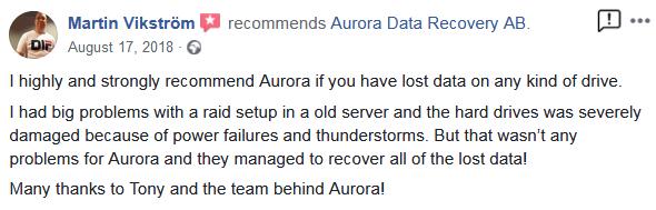 ännu en nöjd data-recovery kund